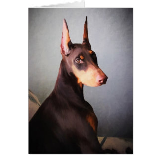 Cartão do Pinscher do Doberman