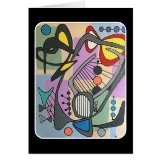 """Cartão Do """"pintura da canção da aranha da modificação"""