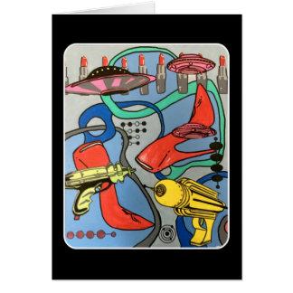 """Cartão Do """"pintura da invasão do encanto da modificação"""