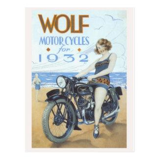 Cartão do Pinup da motocicleta