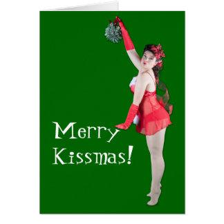 Cartão do Pinup do Feliz Natal