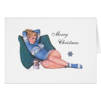 Cartão do Pinup do Natal