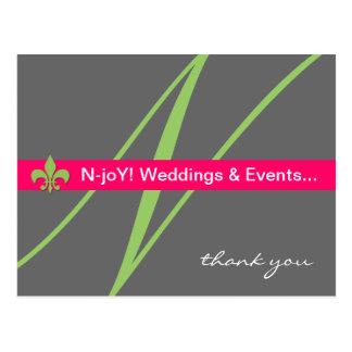 Cartão do planejador de evento da flor de lis do