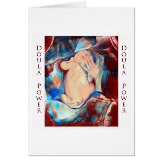 Cartão do poder de Doula