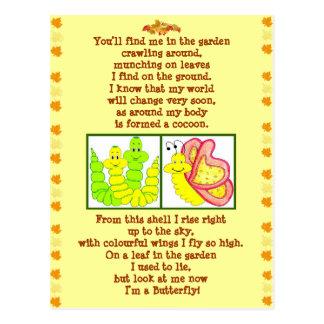 Cartão do poema de Caterpillar