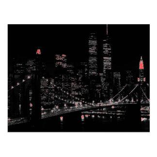 Cartão do pop art da Nova Iorque