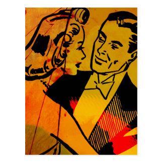 Cartão do pop art dos dançarinos do salão de baile