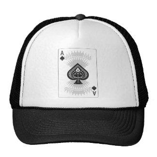 Cartão do póquer do ás de espada: boné
