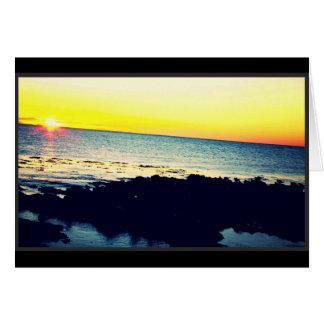 Cartão do por do sol