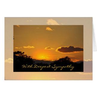 Cartão do por do sol da simpatia por Janz