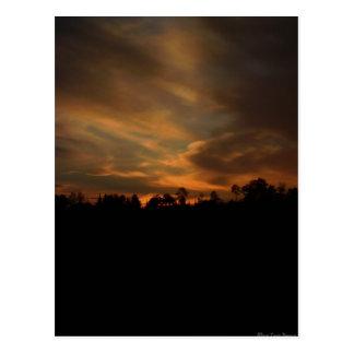 Cartão do por do sol de agosto