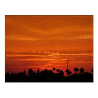Cartão do por do sol de C4marraquexe