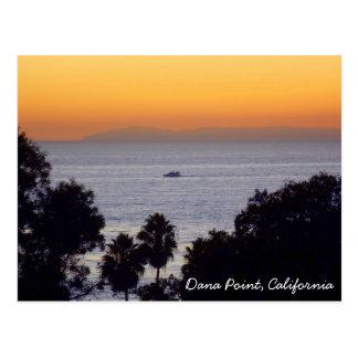 Cartão do por do sol de Dana Point
