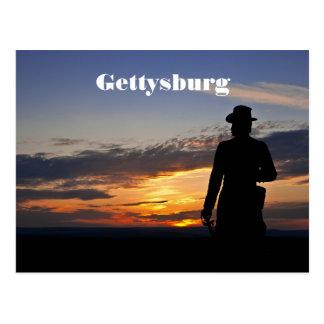 Cartão do por do sol de Gettysburg