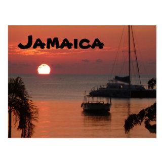 Cartão do por do sol de Jamaica