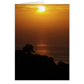 Cartão do por do sol de La Jolla