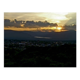 Cartão do por do sol de Leadville