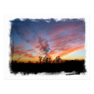 Cartão do por do sol de Mississippi