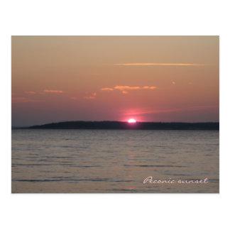 Cartão do por do sol de Peconic