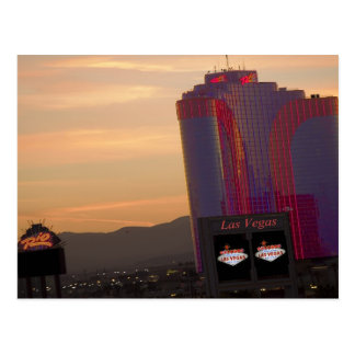 Cartão do por do sol de Rio Las Vegas