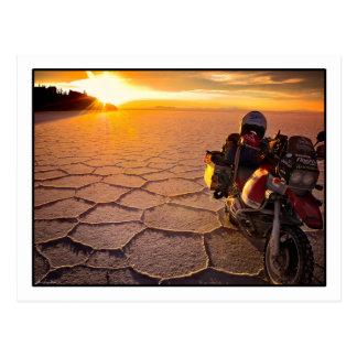Cartão do por do sol de Salar