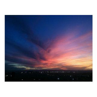 Cartão do por do sol de San Diego