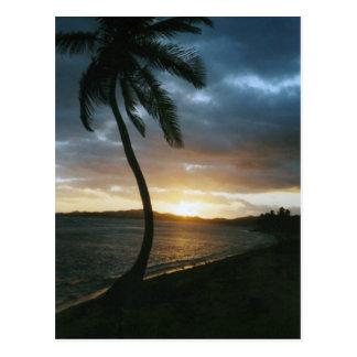 Cartão do por do sol de St Thomas