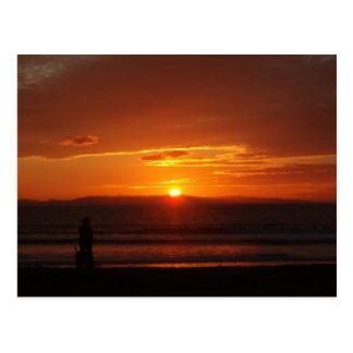 Cartão do por do sol de Ventura