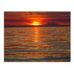 Cartão do por do sol do Lago Michigan Cartão Postal
