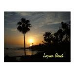 Cartão do por do sol do Laguna Beach Cartao Postal