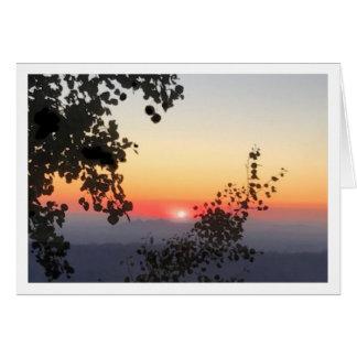 Cartão do por do sol do Mt. Lemmon