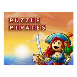 Cartão do por do sol do pirata