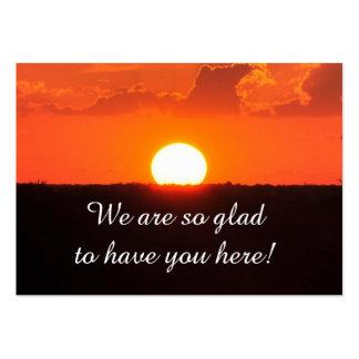 Cartão do por do sol do visitante da igreja cartão de visita grande