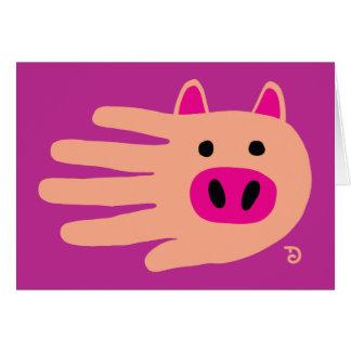 Cartão do porco