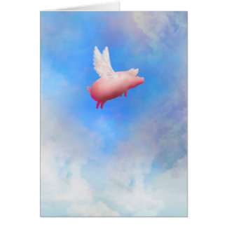 Cartão do Porco-Cumprimento do vôo