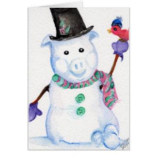 Cartão do PORCO da neve