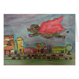 Cartão do porco do poder