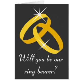 Cartão do portador de anel