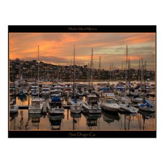 Cartão do porto de San Diego Califórnia