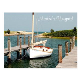 Cartão do porto do Martha's Vineyard das MÃES de