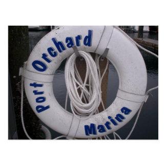 Cartão do porto do pomar do porto