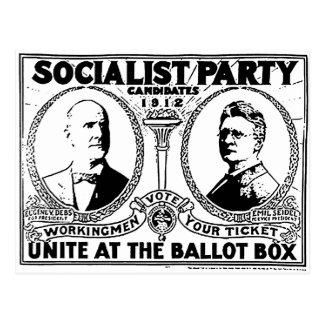 Cartão do poster da campanha de Eugene Debs