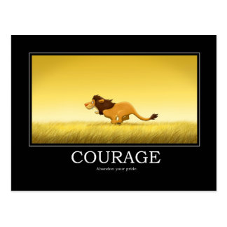 Cartão do poster da coragem