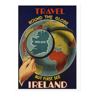 Cartão do poster de viagens de Ireland