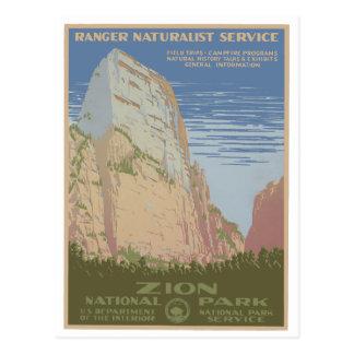 Cartão do poster vintage do parque nacional de