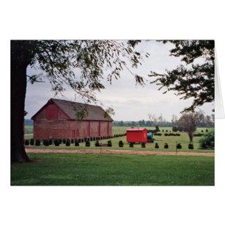 Cartão do prado da plantação