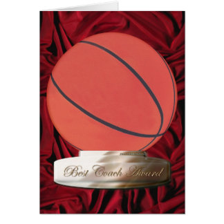Cartão do prêmio do treinador do basquetebol o