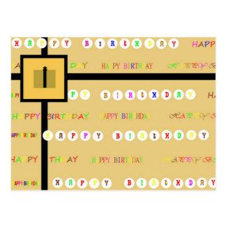 Cartão do presente do feliz aniversario