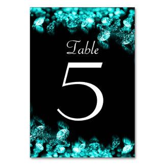 Cartão do preto do diamante e da mesa de turquesa