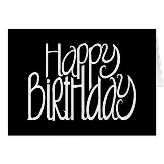 Cartão do preto do feliz aniversario